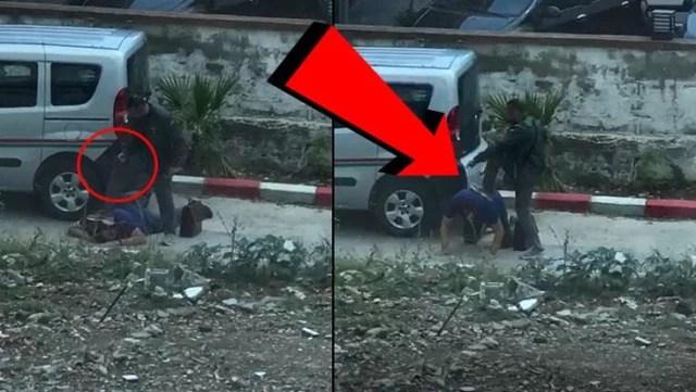 Maganda, haciz için gelen avukatı yere yatırıp kafasına silah dayadı