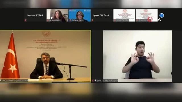 Uluslararası Katılımlı Acil Durum ve Tahliye Planları ile Sistemlerinin Erişilebilirliği Çevrimiçi Çalıştayı online olarak düzenlendi