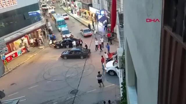 Son dakika: Asker uğurlama konvoyundakiler yolu kapatıp drift yaptı