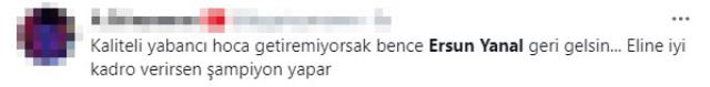 Fenerbahçe'de birçok taraftar takımın başında yeniden Ersun Yanal'ı görmek istiyor