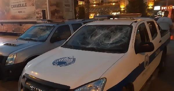 Çeşme Zabıta Müdürlüğü'ne taşlı saldırı