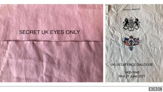 İngiltere Savunma Bakanlığı'na ait gizli belgeler şehirdeki bir otobüs durağında bulundu
