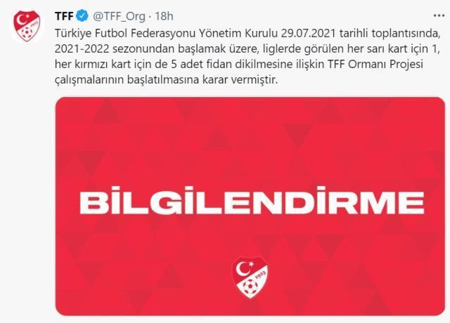 TFF fidan kampanyası nedir? Türkiye Futbol Federasyonu fidan kampanyası