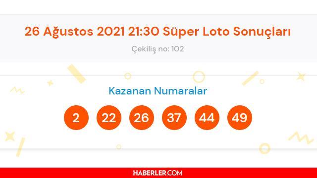 Süper Loto sonuçları açıklandı! 26 Ağustos Süper Loto sonucu sorgulama! Süper Loto ikramiyesi ne kadar?