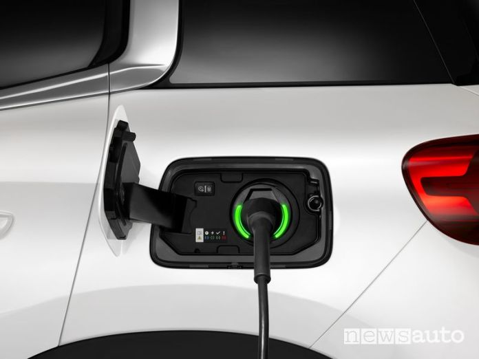 Citroen C5 Aircross Hybrid plug-in charging socket