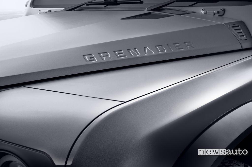 Raised hood detail of the new Ineos Grenadier
