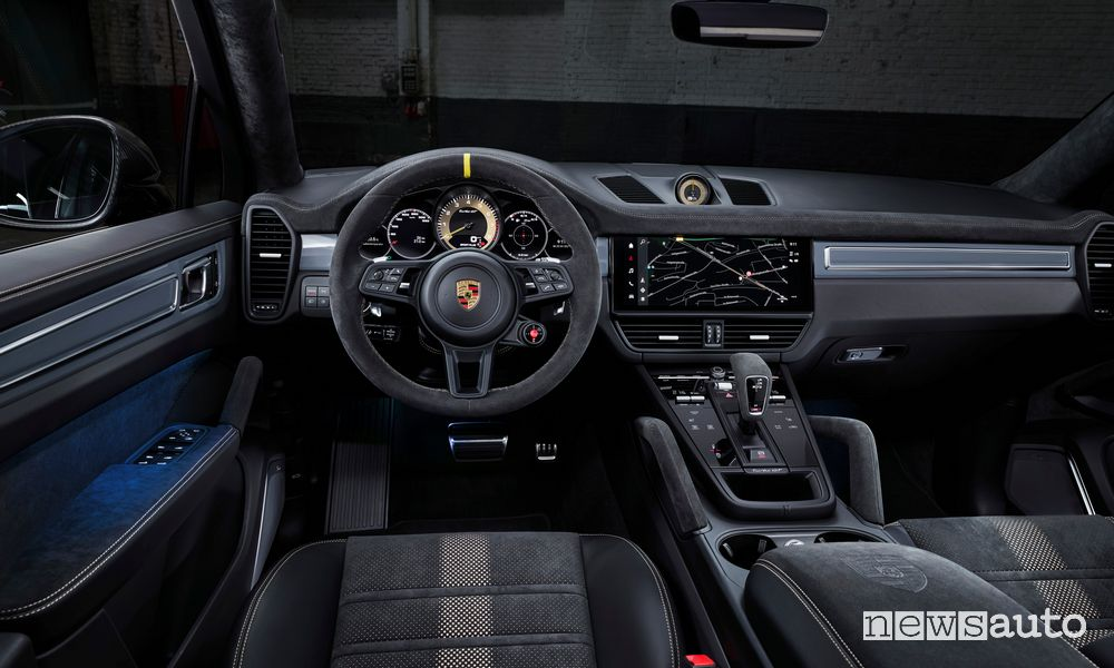 Interior of the new Porsche Cayenne Turbo GT