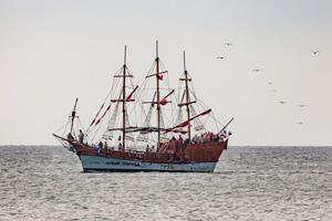 Крым. Коктебель. Корабль Алые паруса. Фото Николая Ефремова