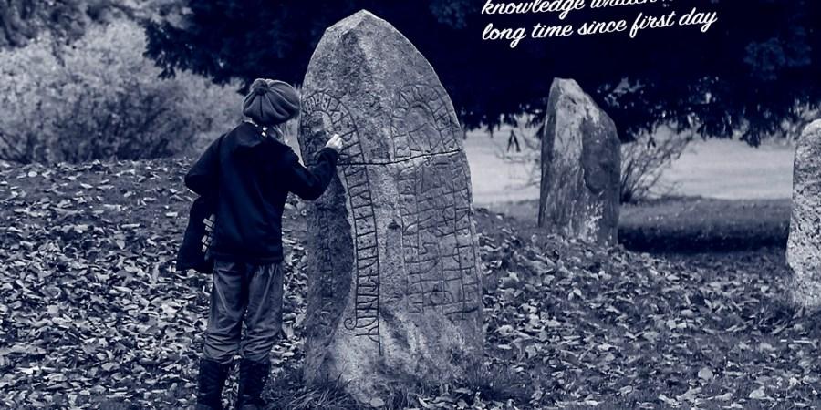 Photo & Poetry - Blue Runestone