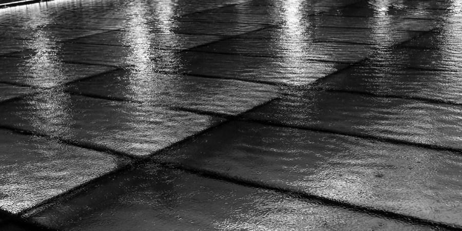 BW - Rainy steps