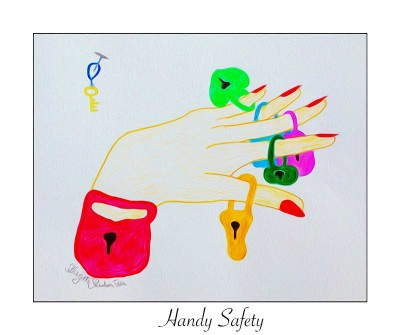 Crazy Art - Handy safety