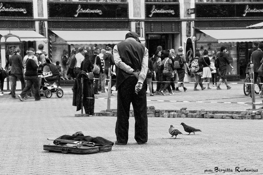 The Street Violinist, Budapest.
