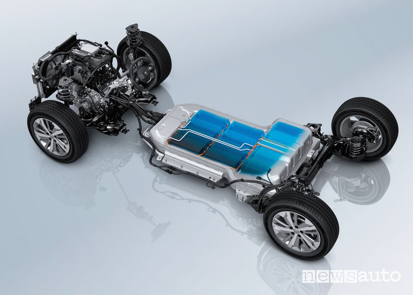 Electric motor, Peugeot e-Rifter battery