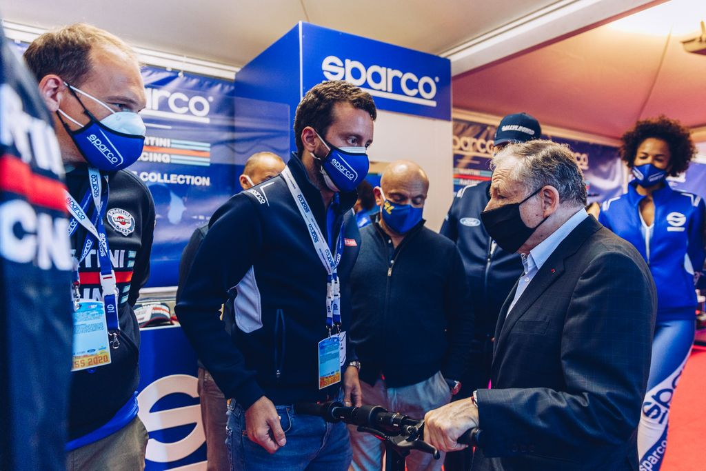 Niccolò Bellazzini, Sparco brand manager (in the photo together with Jean Todt, FIA president)