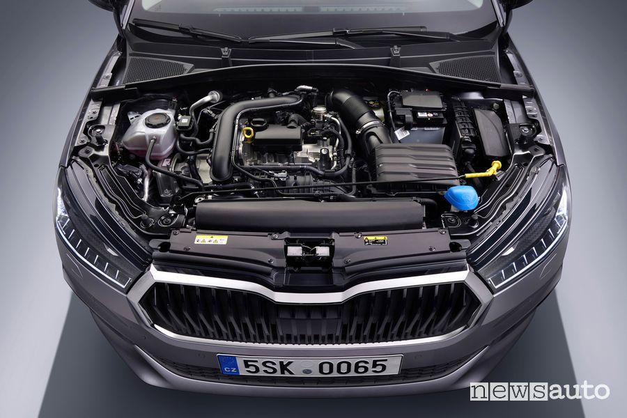 New Škoda Fabia engine compartment
