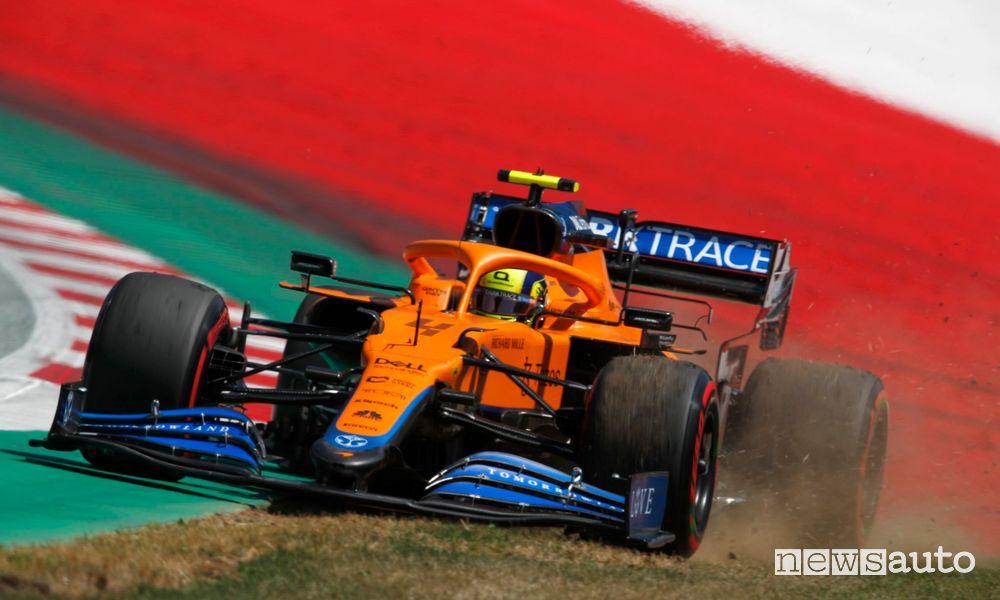 McLaren Lando Norris qualifying GP Austria F1 2021