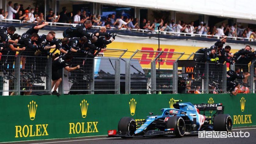 F1 Gp Hungary 2021 first Alpine victory
