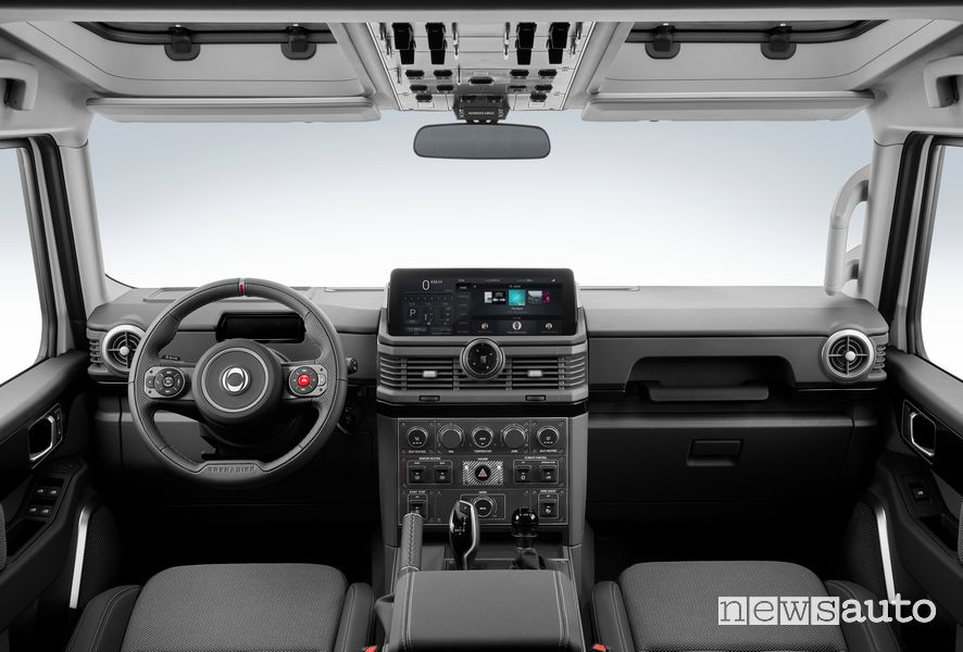 Ineos Grenadier cockpit instrument panel
