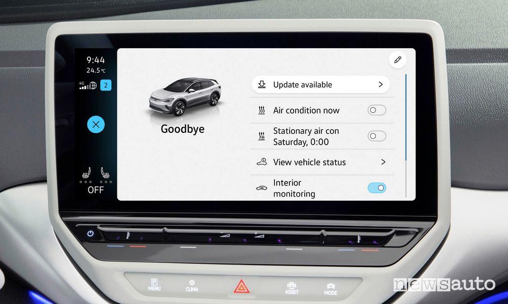 How to install the new software update on electric Volkswagens?
