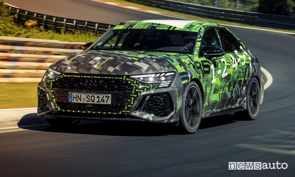 New Audi RS 3 at the Nürburgring