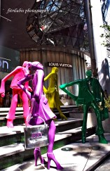 Colorfull statues at Orchard Road, Singapore