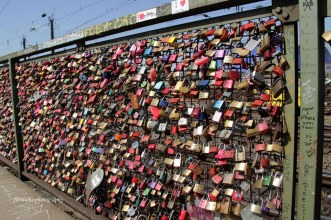 Padlocks in Hohenzollern Bridge, Cologne, Germany