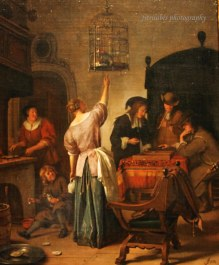 The Parrot Cage by Jan Havicksz Steen