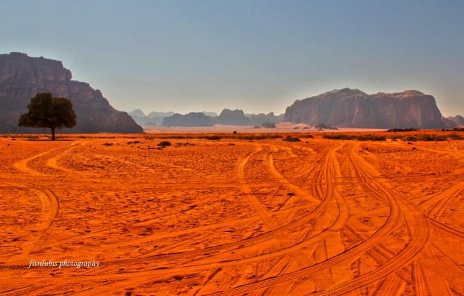 Spectacular Landscape of Wadi Rum in Jordan.