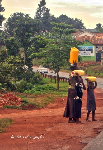 Children in Africa must walk many kilometers just to get clean water