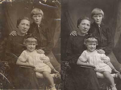 Восстановление старых фотографий в Воронеже