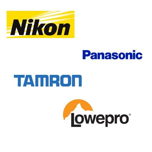 Nikon, Panasonic, Tamron och Lowepro