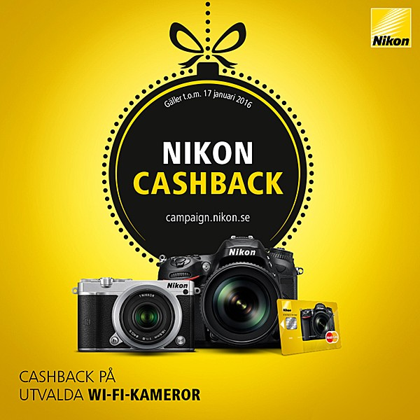 Nikon X-mas Cashback 2015