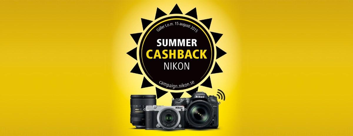 Köp Nikon i sommar - få pengar tillbaka!