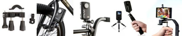 Bygelstativet från Veho kan monteras lita överallt, t ex på en cykel. Duopod är två stativ som kan sättas ihop till ett. Handstativdelen är bra för att ta en selfie. Hållaren för smartphone har en vanlig stativgänga i botten, vilket betyder att den kan skruvas fast på vilket stativ som helst - och på ett bygelstativ och Duopod, förstås.
