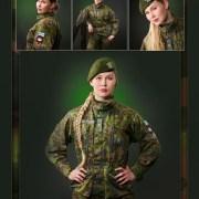Muotokuva nainen armeijassa
