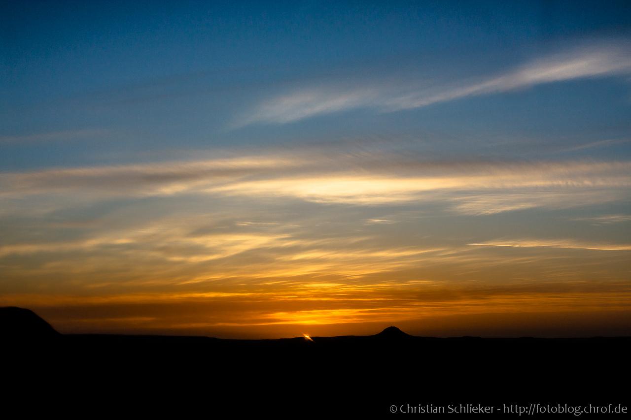 Sonnenaufgang lybische Wüste