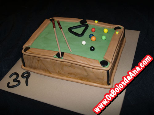 Bolo Mesa de Bilhar - Pool Table Cake