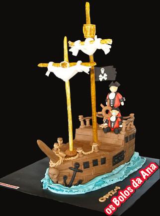 Um Bolo da Ana - Bolo Barco Piratas