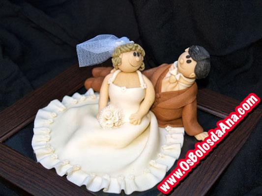 Um Bolo da Ana - Topper Noivos - Bolo de Casamento