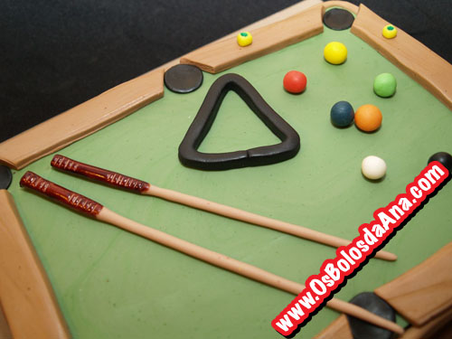 Bolo Mesa de Bilhar - Pool Table Cake
