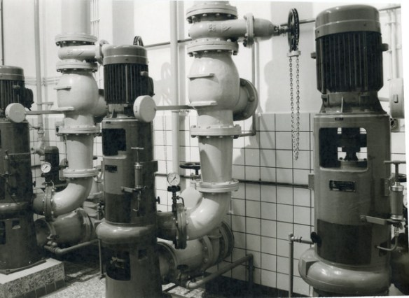 Machinekamer rioolwaterzuivering 1977