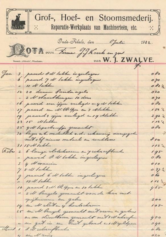 nota zwalve 1922
