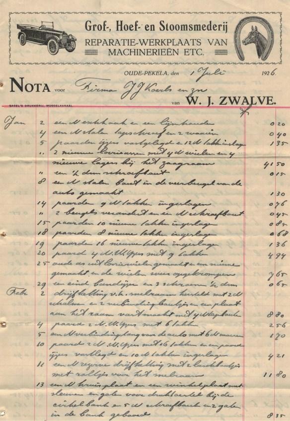 nota zwalve 1926