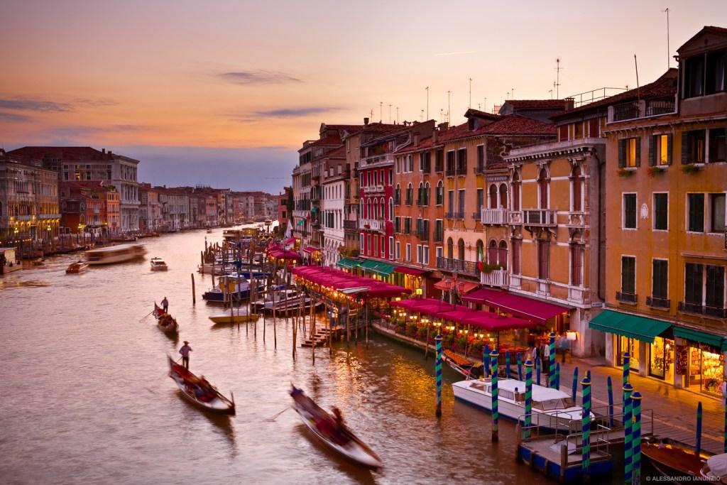 Canal Grande al Tramonto, Venezia