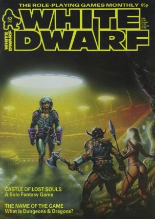 White Dwarf N.º 52, Abril 1984, capa.