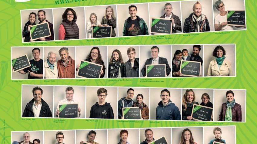 Klimaschutz Ich mach mit Plakat Fotoaktion für das Umweltamt auf der Umweltmeile des Wiesbadener Stadtfestes