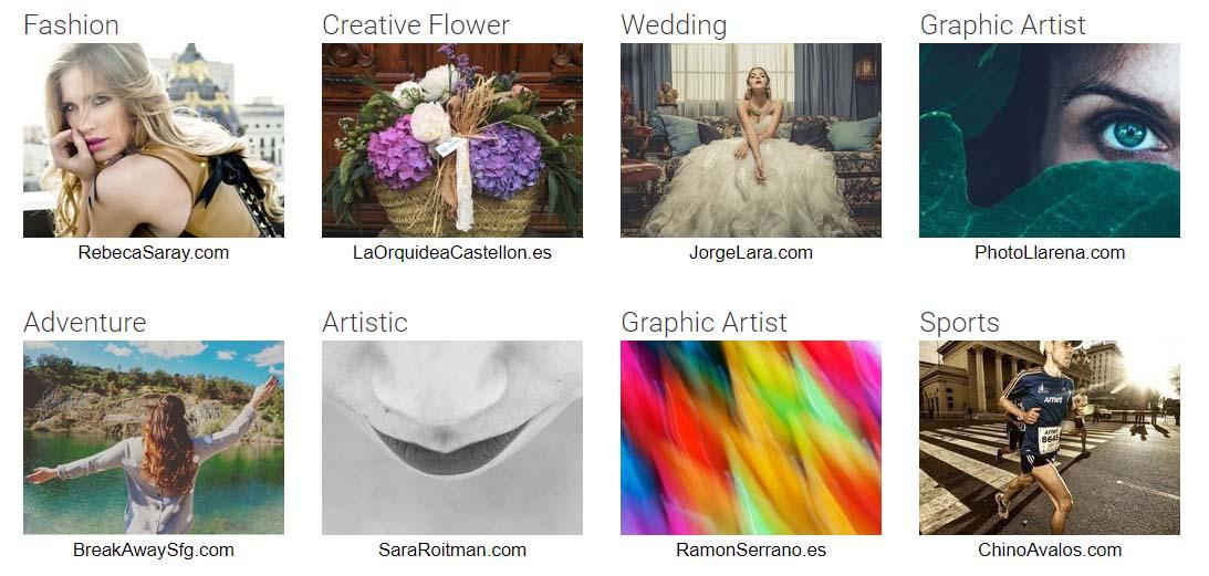web profesional fotografia