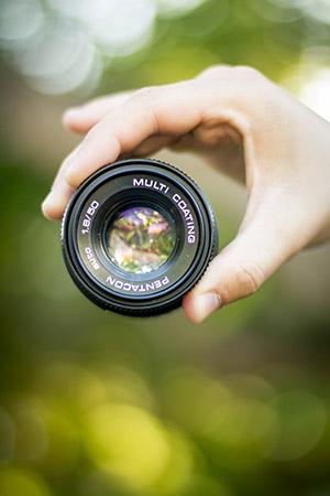 objetivo 50mm bokeh