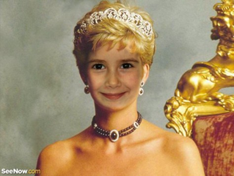 lienzo con foto princesa Diana