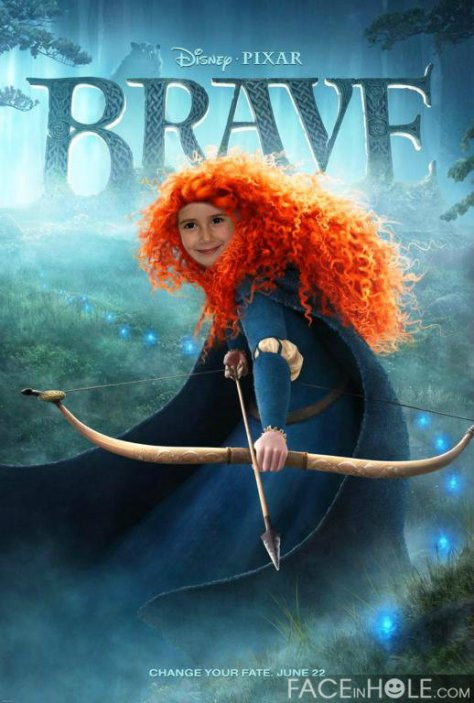 Fotomontajes Disney. Brave